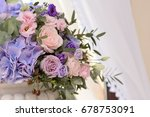 floral wedding decoration with... | Shutterstock . vector #678753091