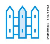boundary icon | Shutterstock .eps vector #678755965