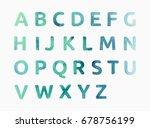 watercolor alphabet. color hand ... | Shutterstock .eps vector #678756199