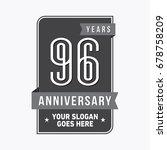 96 years anniversary design... | Shutterstock .eps vector #678758209