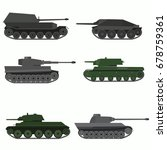 set of military vehicles and...   Shutterstock .eps vector #678759361