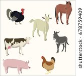 set of farm animals. | Shutterstock .eps vector #678759409