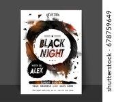 black night party flyer ... | Shutterstock .eps vector #678759649