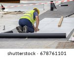 waterproofing and insulation at ... | Shutterstock . vector #678761101