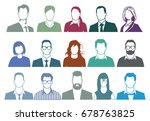 group of people portrait... | Shutterstock . vector #678763825