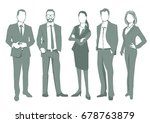 group of business people... | Shutterstock . vector #678763879