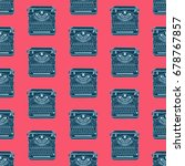 seamless pattern with vintage... | Shutterstock .eps vector #678767857