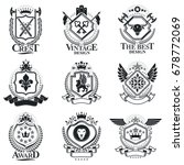 heraldic signs  elements ... | Shutterstock .eps vector #678772069