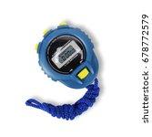 sports equipment   blue digital ... | Shutterstock . vector #678772579