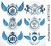 vector classy heraldic coat of... | Shutterstock .eps vector #678772915
