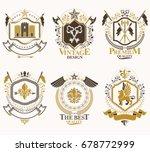 heraldic coat of arms created... | Shutterstock .eps vector #678772999