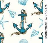 seamless nautical background... | Shutterstock .eps vector #678773575