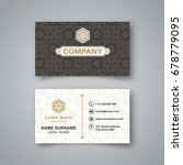 template of the blank business... | Shutterstock .eps vector #678779095