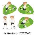 set of funny football soccer... | Shutterstock . vector #678779461