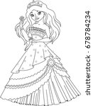 princess coloring page | Shutterstock .eps vector #678784234