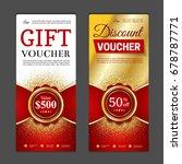 gift voucher template. can be... | Shutterstock .eps vector #678787771