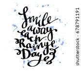 handwritten lettering of... | Shutterstock .eps vector #678791191