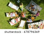 summer weekend barbecue with... | Shutterstock . vector #678796369