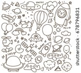 set of cute air transportation... | Shutterstock .eps vector #678796831