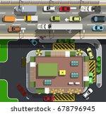 top view city speedway above... | Shutterstock .eps vector #678796945