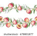 hand drawn watercolor borders... | Shutterstock . vector #678801877