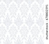 vector baroque floral pattern....   Shutterstock .eps vector #678802591