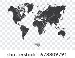 a map of the world with the... | Shutterstock .eps vector #678809791
