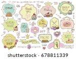 bakery vintage badges labels... | Shutterstock . vector #678811339