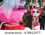 venice  italy   february 27 ... | Shutterstock . vector #678812977
