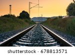 Vintage Empty Railroad At...