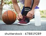 low section of basketball... | Shutterstock . vector #678819289