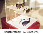 sunglasses fashion display in... | Shutterstock . vector #678825391
