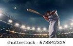 baseball batter hitting ball... | Shutterstock . vector #678842329