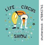 bright circus poster design... | Shutterstock .eps vector #678842761