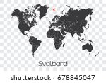 a map of the world with the... | Shutterstock .eps vector #678845047