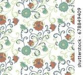vintage wallpaper rapport.... | Shutterstock .eps vector #678849409