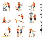personal gym coach trainer or... | Shutterstock .eps vector #678850471