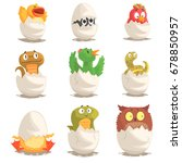 birds and reptiles hatch from... | Shutterstock .eps vector #678850957
