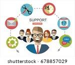 vector illustration of customer ... | Shutterstock .eps vector #678857029