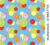 vector seamless background for... | Shutterstock . vector #678857755