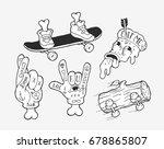 vector strange unusual skater... | Shutterstock .eps vector #678865807