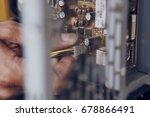 computer wires  computer repair ... | Shutterstock . vector #678866491