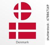 denmark flag set. danish... | Shutterstock .eps vector #678867169