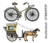 horse drawn carriage or coach... | Shutterstock .eps vector #678869959