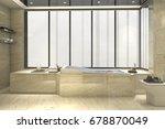 3d rendering modern classic... | Shutterstock . vector #678870049