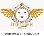 heraldic coat of arms... | Shutterstock .eps vector #678870475