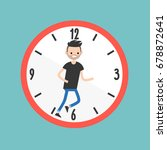 running out of time conceptual... | Shutterstock .eps vector #678872641
