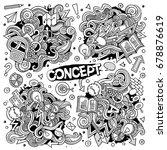 cartoon cute doodles hand drawn ... | Shutterstock .eps vector #678876619