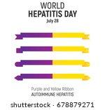 world hepatitis day  july 28 ... | Shutterstock .eps vector #678879271