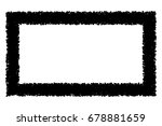 black frame isolated on white... | Shutterstock .eps vector #678881659